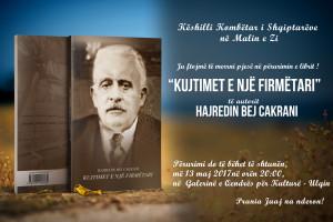 Perurimi i librit Hajredin Bej Cakranit